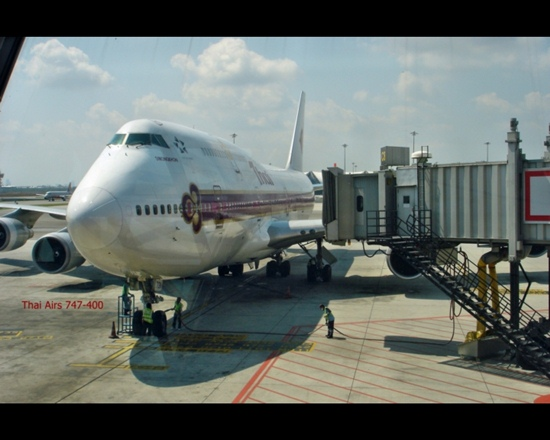 Thai Air-Maschine 747-400